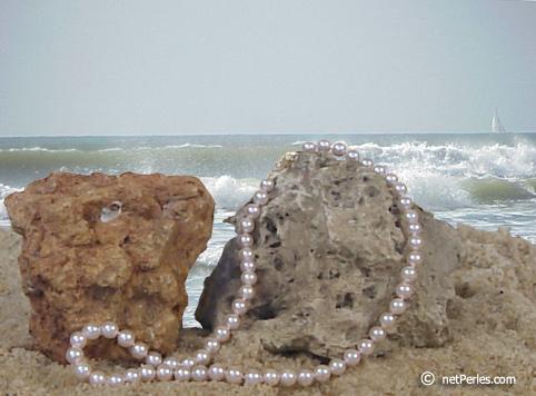 Collier de perles de culture d'Akoya du Japon
