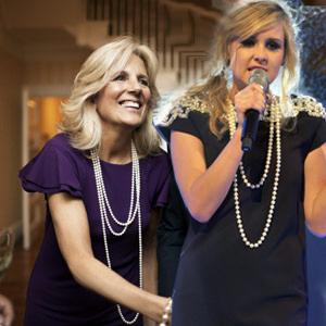 Jill Biden Diana avec des perles, pas d'age pour porter des perles