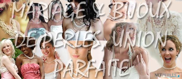 Toutes belles avec des perles le jour du mariage