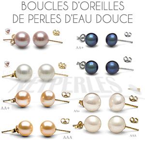 Très large collection de boucles d'oreilles de perles d'eau douce