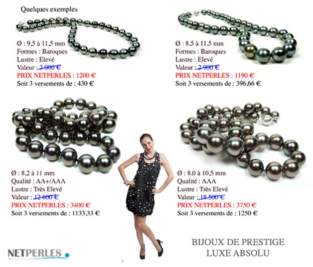 Propositions de colliers de perles de tahti jusqu'à 80 % de discount