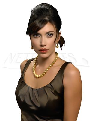 Collier de perles de culture d'Australie Dorées