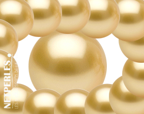 perles dorees d'australie - gros diamètres