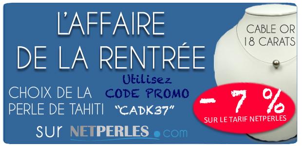 Promotion de rentree chez NETPERLES, fil d'ariane à -7%