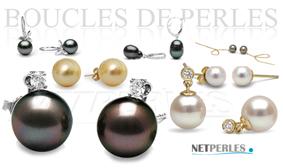 Boucles d'oreilles de perles en cadeau pour les fetes de fin d'annee