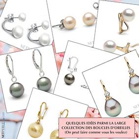 Les boucles d'oreilles de perles