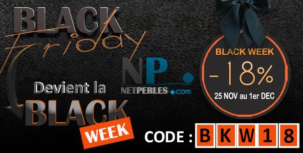 La semaine BlackWeek de NETPERLES c'est fou fou fou ....