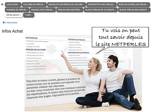 Nouveau site netperles.com, un site ou il est facile de circuler