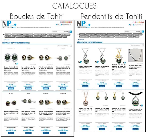 Pages de catalogue sur une seule colonne afin de voir bien tous les produits